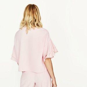 Blush Zara Frilled Top
